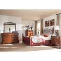 Signature Design by Ashley Wyatt California King Octagon Poster Bed