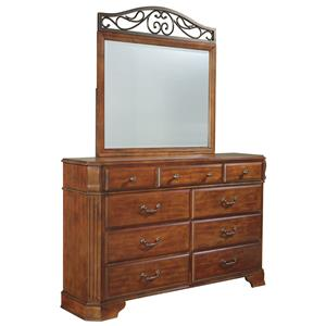 Signature Design by Ashley Furniture Wyatt 9 Drawer Dresser & Mirror