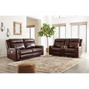 Signature Design by Ashley Wyline Reclining Living Room Group - Item Number: 71701 Living Room Group 1