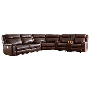 Signature Design by Ashley Wyline 3 Piece Reclining Sectional