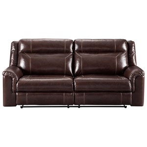 Signature Design by Ashley Wyline Power Reclining Sofa w/ Adjustable Headrest