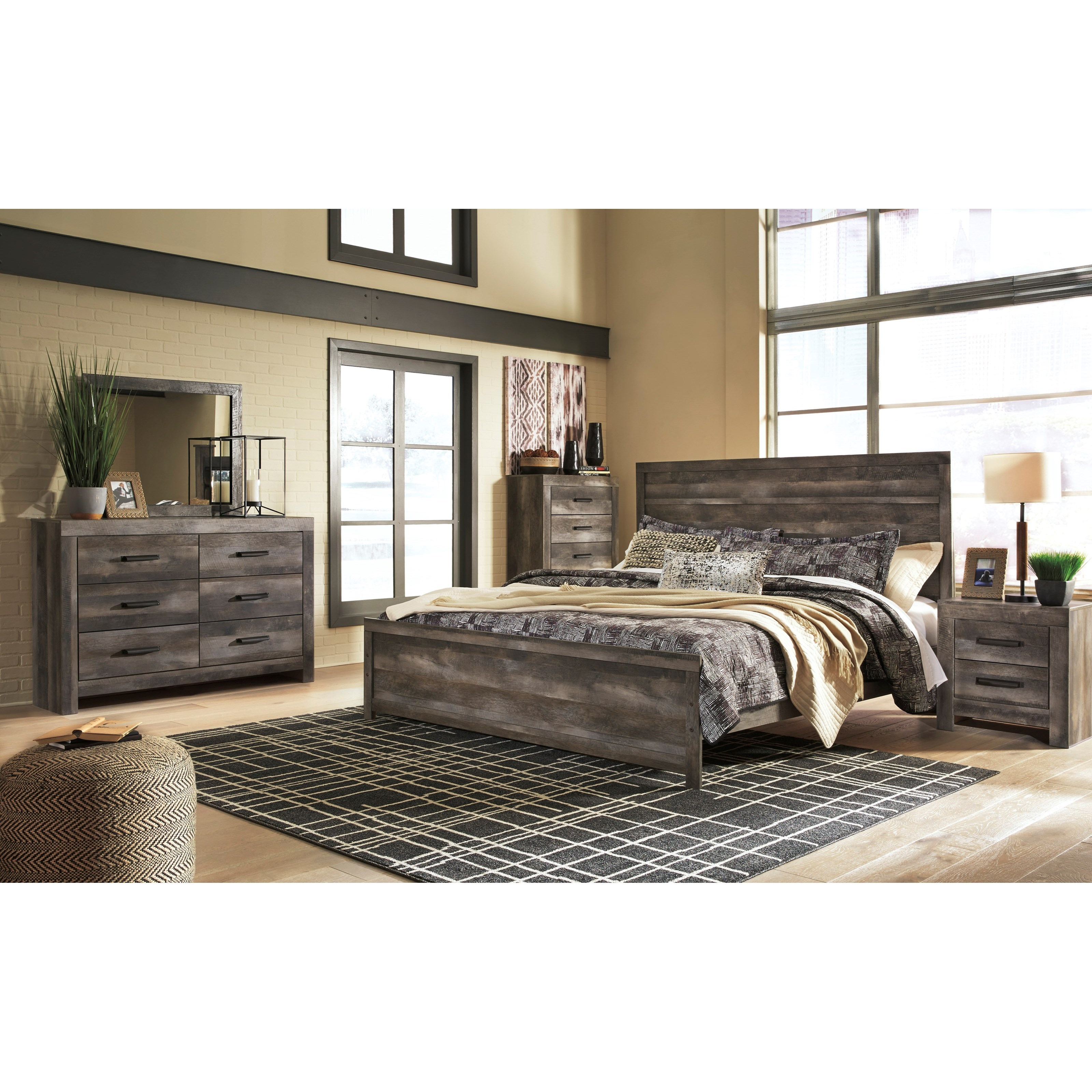 Signature Design By Ashley Wynnlow King Bedroom Group