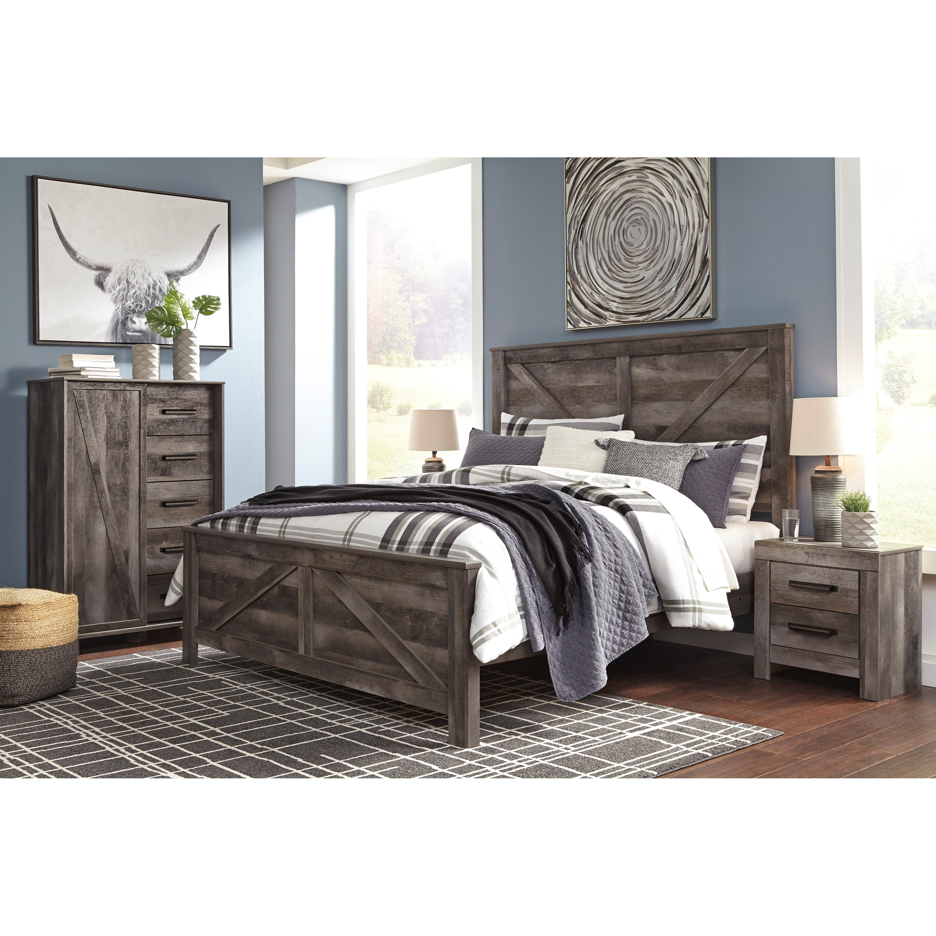 Signature Design By Ashley Willowton Queen Bedroom Group: Signature Design By Ashley Wynnlow King Bedroom Group