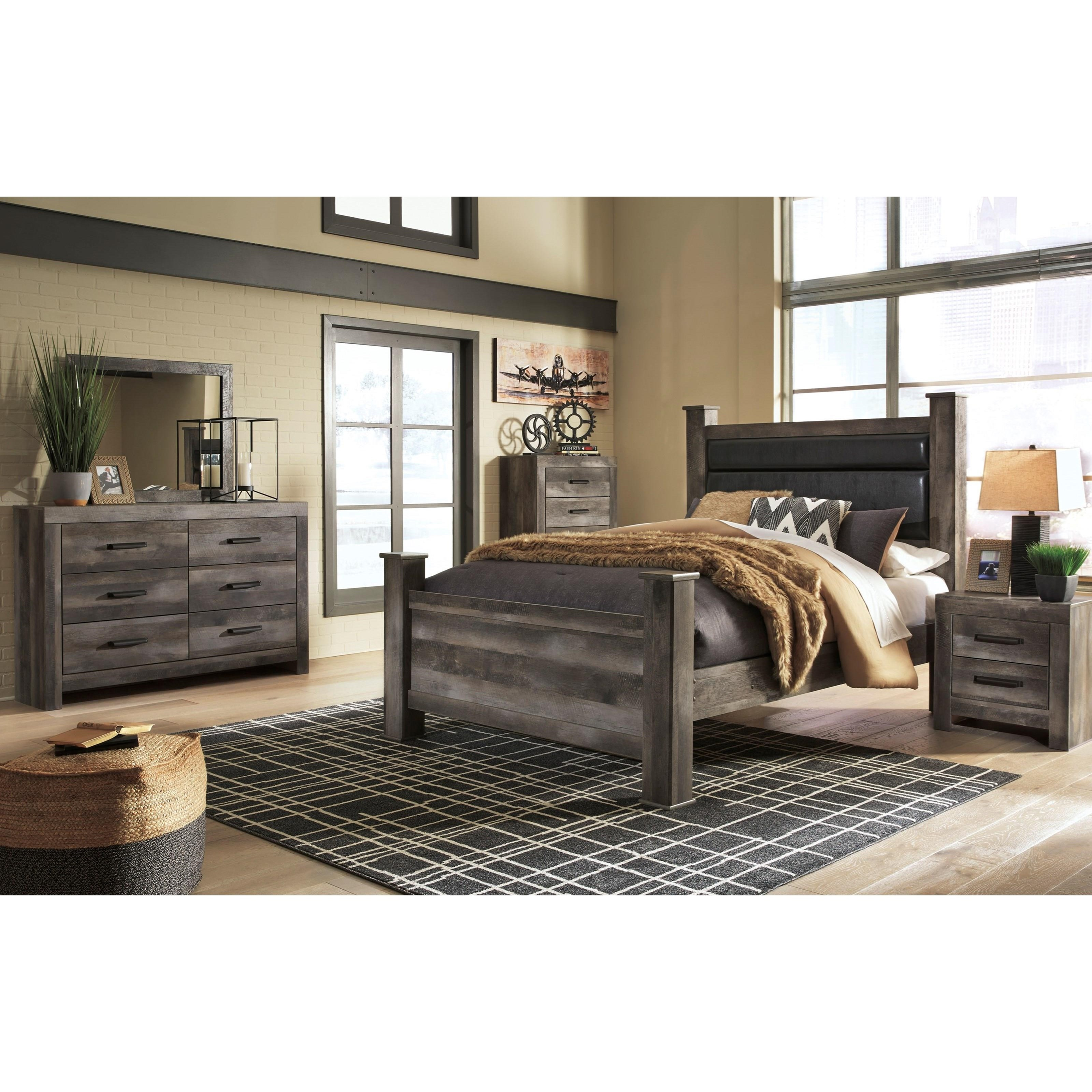 Signature Design By Ashley Wynnlow B440 46 5 Drawer Plank Effect Chest Household Furniture