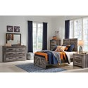 Signature Design by Ashley Wynnlow Twin Crossbuck Panel Bed
