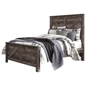 Queen Crossbuck Panel Bed