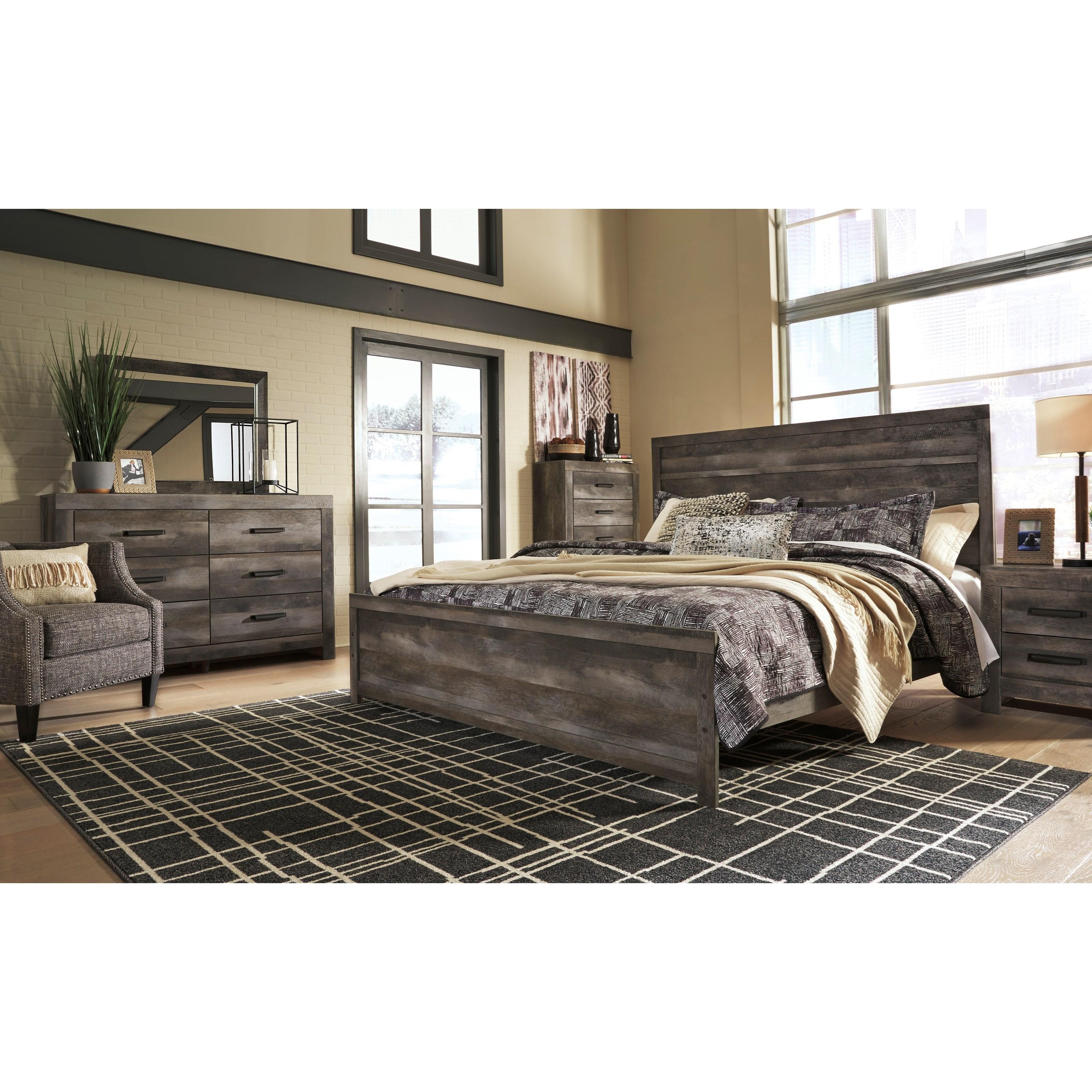 Ashley Furniture In Colorado: Signature Design By Ashley Wynnlow King Rustic Plank