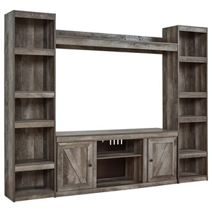 Large TV Stand w/ Piers and Bridge