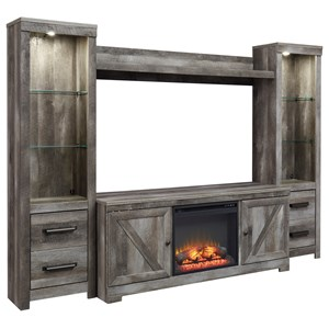 Wall Unit with Fireplace