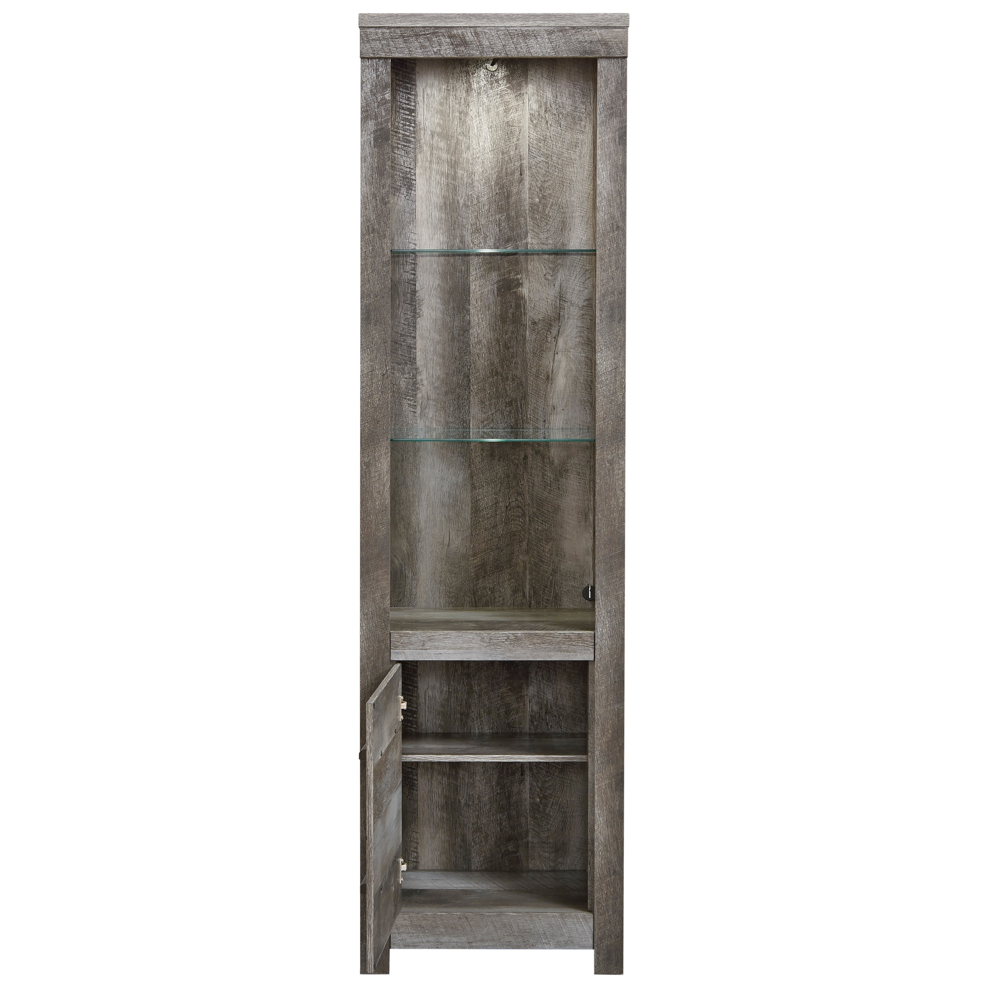 Ashley Furniture Wynnlow Gray Entertainment Center With: Signature Design By Ashley Wynnlow Wall Unit With 2 Piers