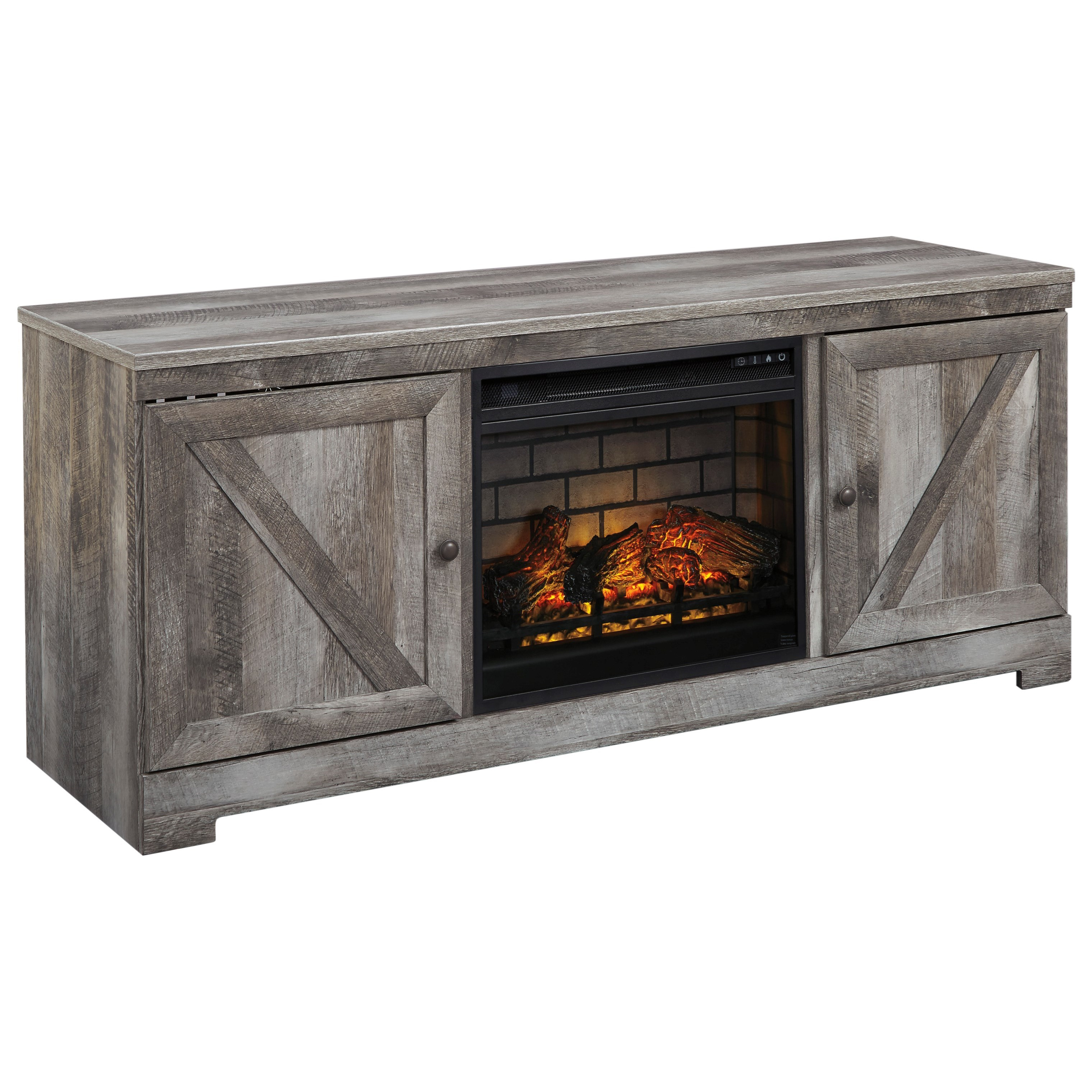 Ashley Furniture Wynnlow Gray Entertainment Center With: Ashley Signature Design Wynnlow Large TV Stand In Rustic