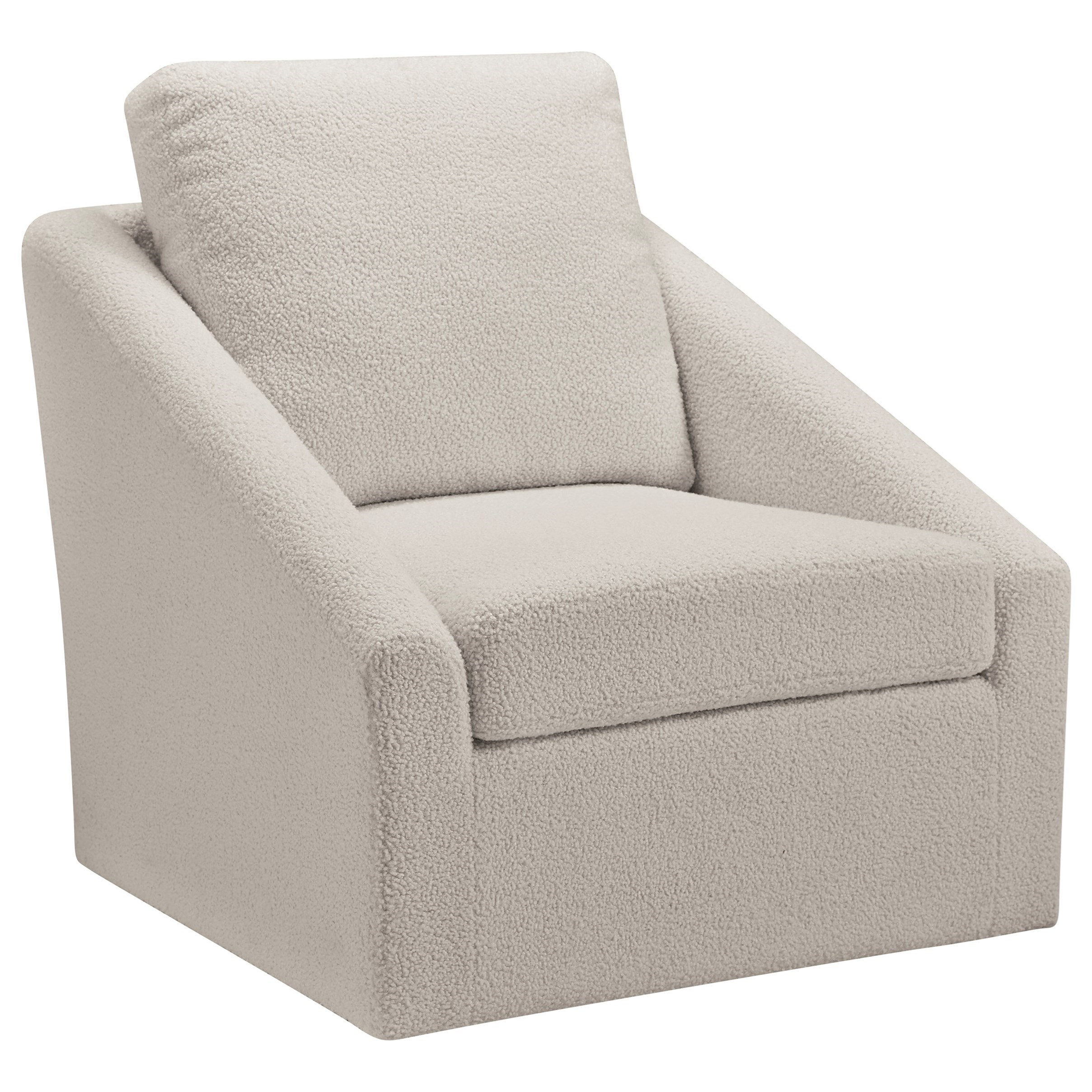 Picture of: Signature Design By Ashley Wysler Swivel Accent Chair In Cream Sherpa Fabric Royal Furniture Upholstered Chairs