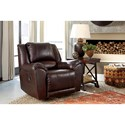 Signature Design by Ashley Yancy Leather Match Rocker Recliner