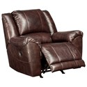 Signature Design by Ashley Yancy Leather Match Power Rocker Recliner