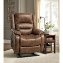 Signature Design by Ashley Yandel Faux Leather Power Lift Recliner