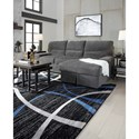Signature Design by Ashley Yantis Sectional with Pop Up Sleeper and Chaise Storage
