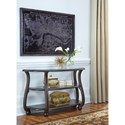 Signature Design by Ashley Yexenburg Demilune Sofa Table with Tempered Glass Top