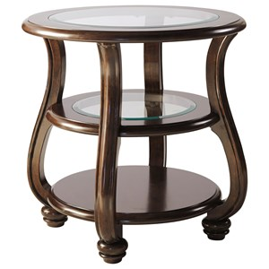 Signature Design by Ashley Yexenburg Round End Table