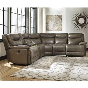 Signature Design by Ashley Zaiden Power Reclining Sectional with Console