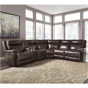 Signature Design by Ashley Zaiden Reclining Sectional with Console