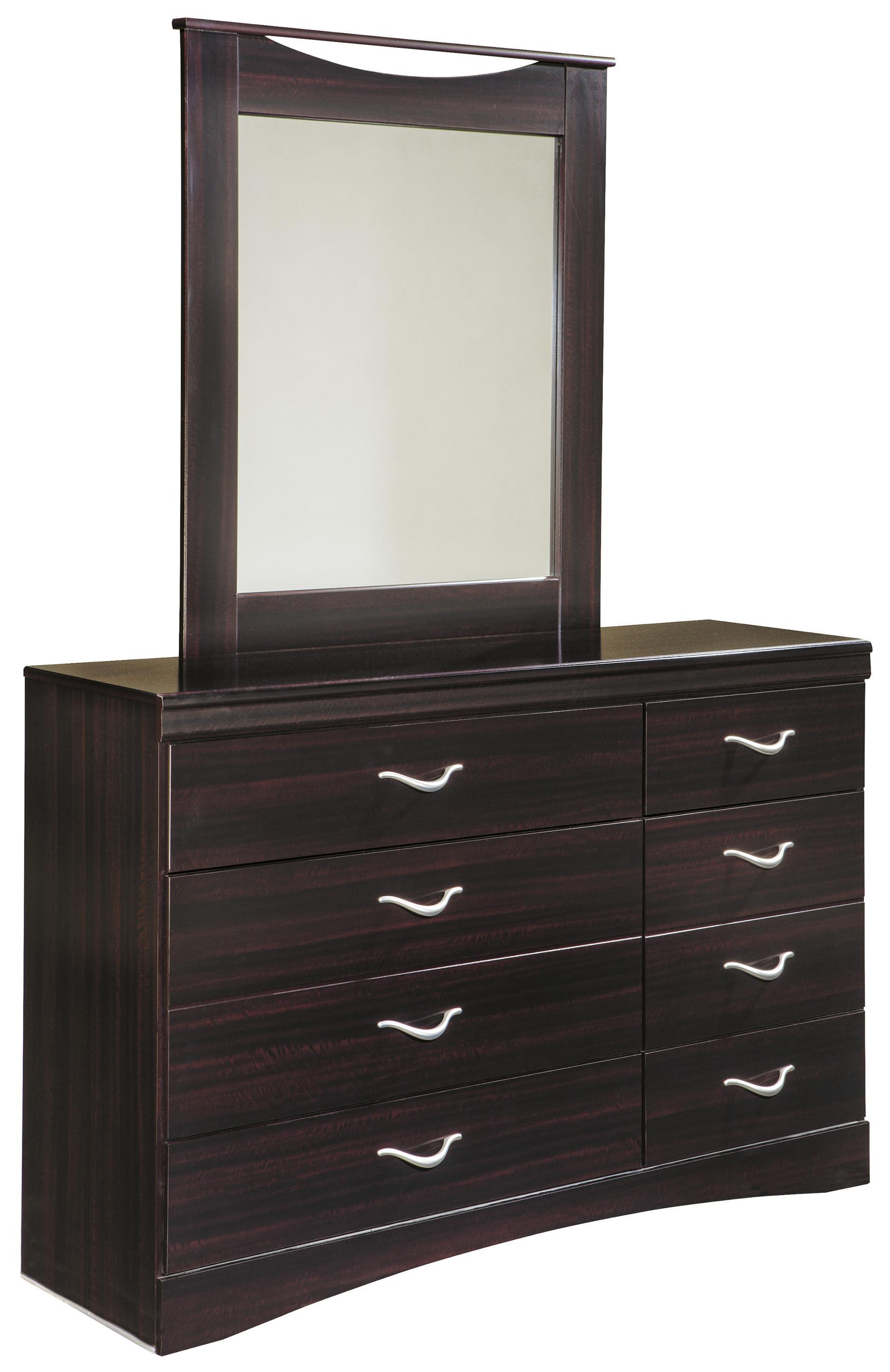 Signature Design by Ashley Zanbury Dresser & Mirror - Item Number: B217-31+36