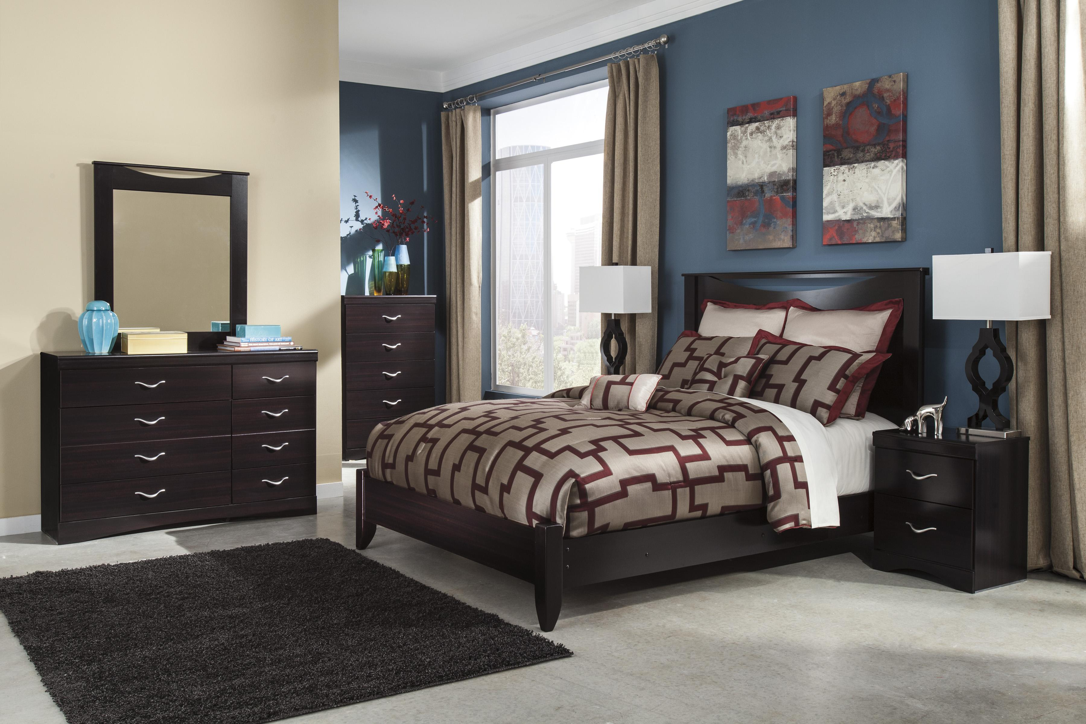Signature Design By Ashley Zanbury Queen Bed With Low Profile Footboard Miskelly Furniture