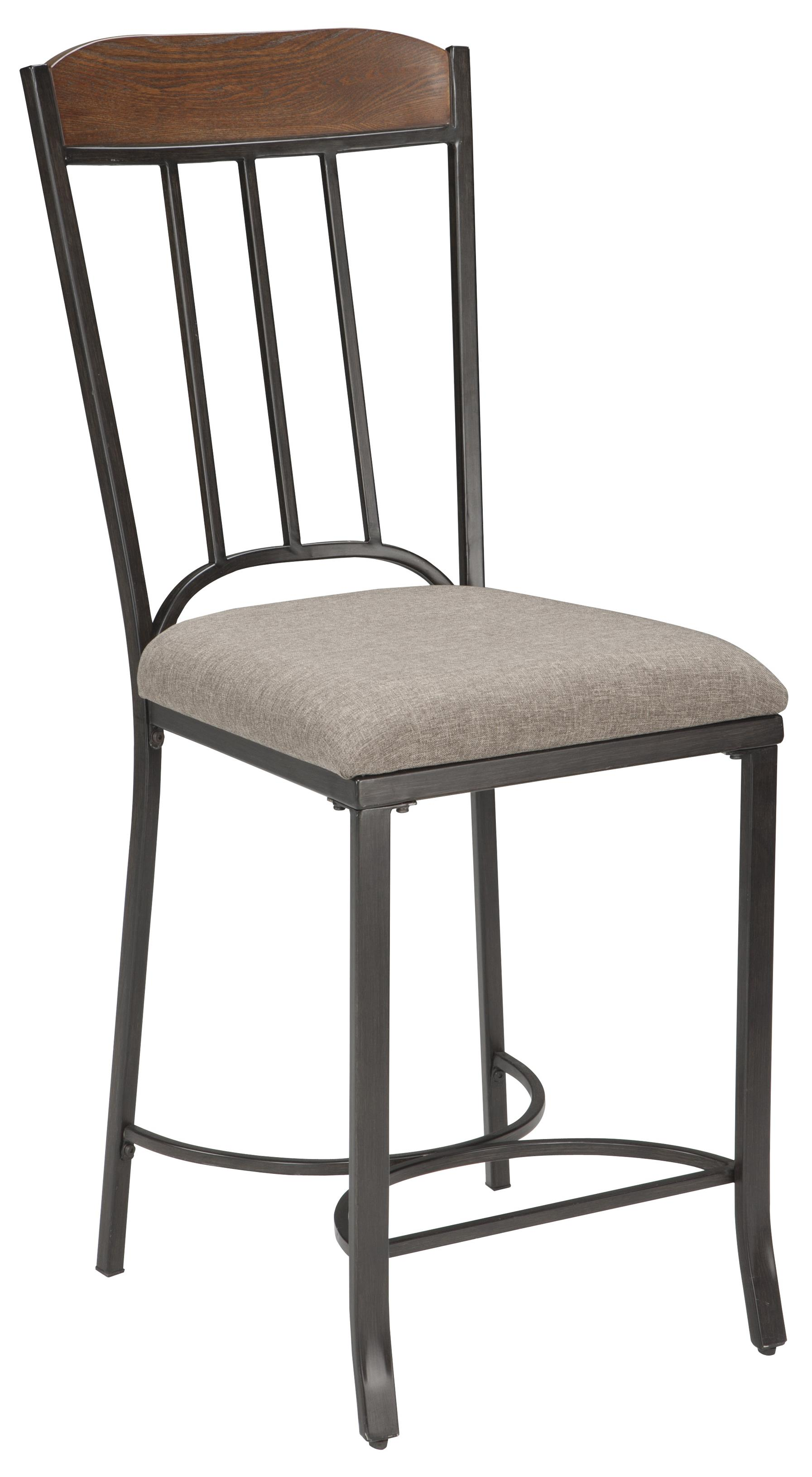 Signature Design by Ashley Zanilly Upholstered Barstool - Item Number: D507-124