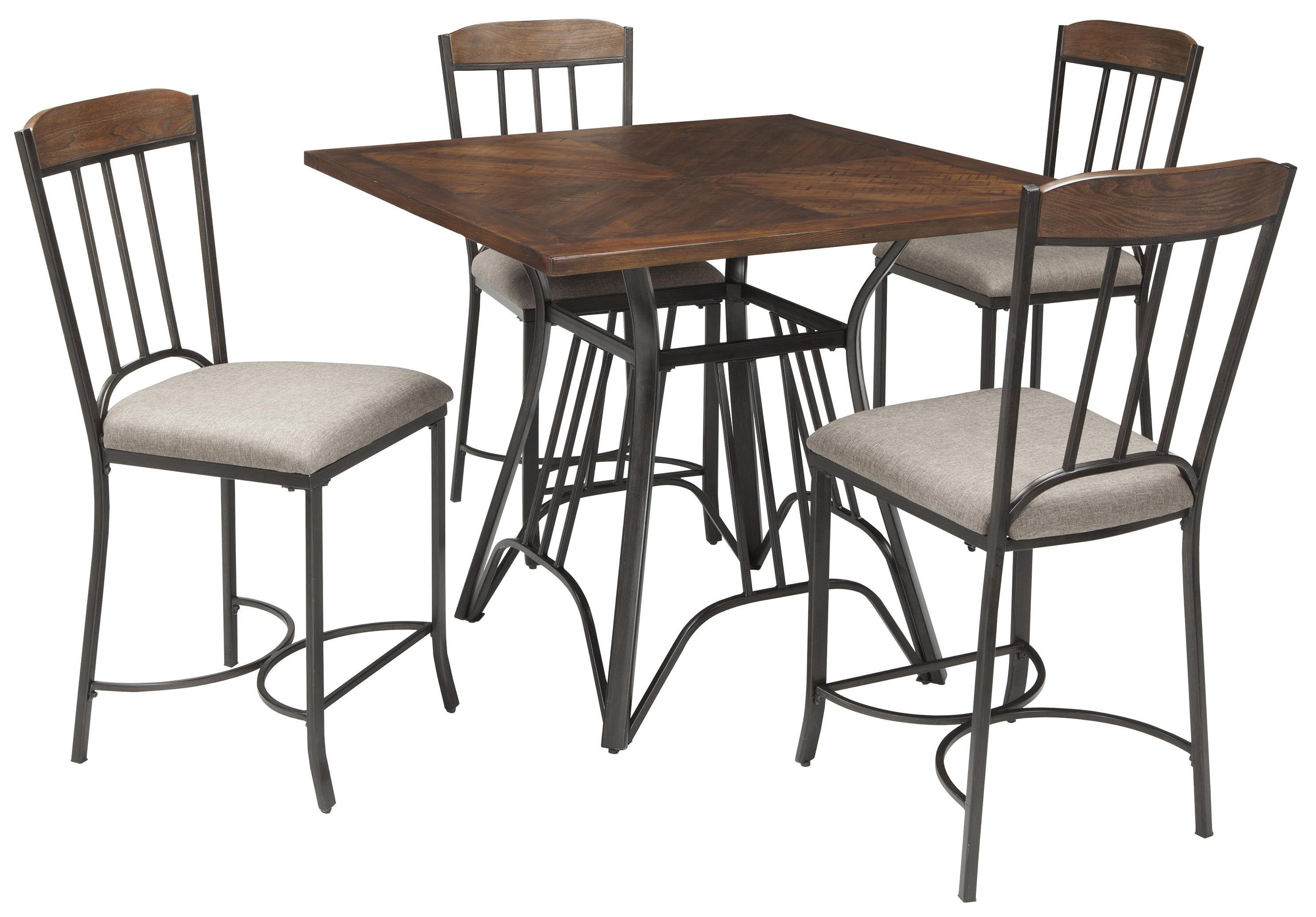 signature design by ashley zanilly square dining room counter table set item number d507