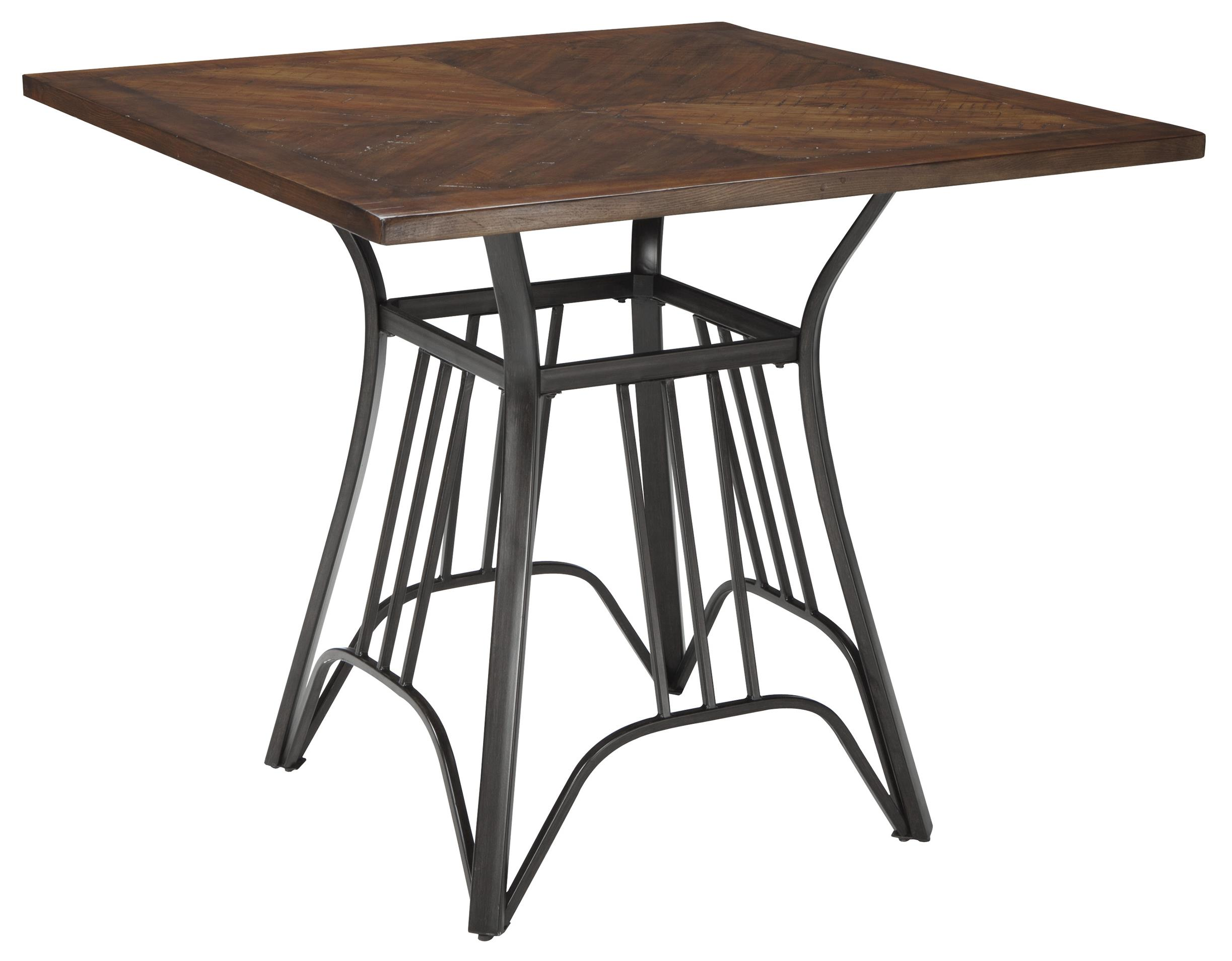 Signature Design by Ashley Zanilly Square Dining Room Counter Table - Item Number: D507-13