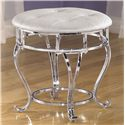 Signature Design by Ashley Zarollina Upholstered Stool with Silver Pearl Faux Gator Seat
