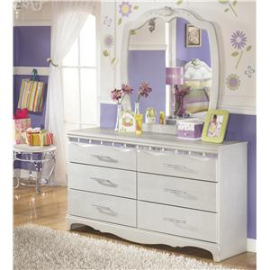Signature Design by Ashley Zarollina Dresser & Bedroom Mirror