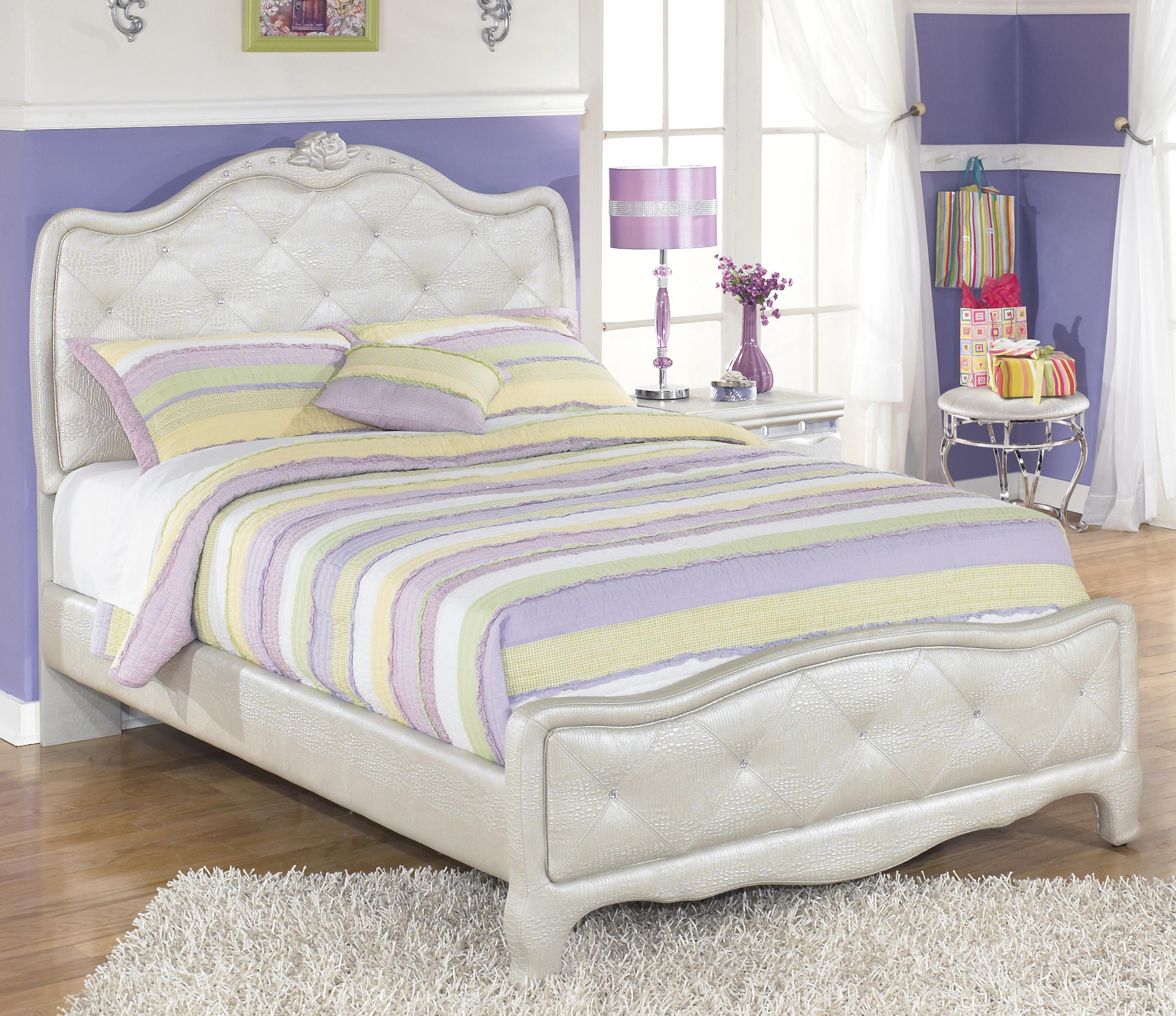 signature designashley zarollina full upholstered bed in