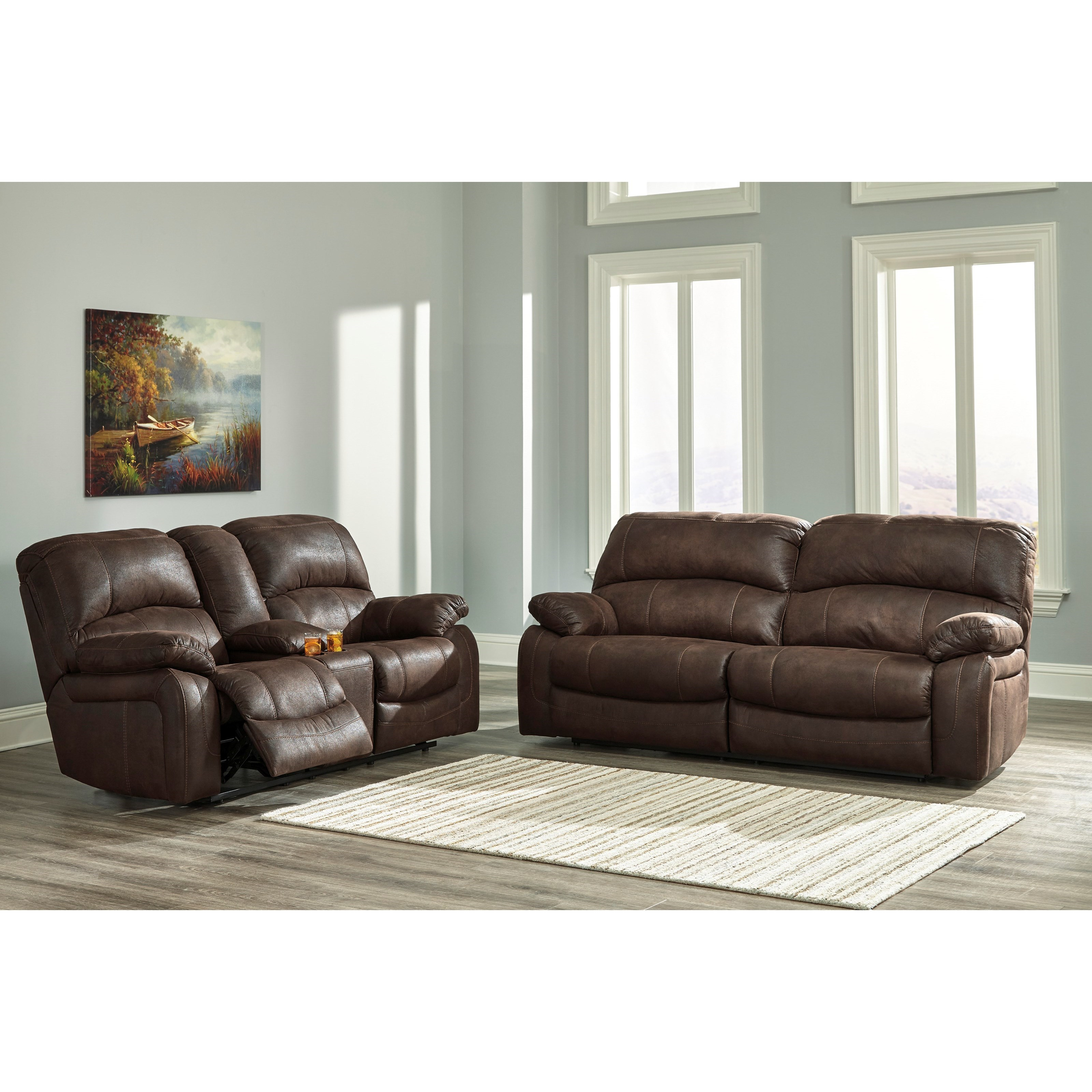Signature Design by Ashley Zavier Reclining Living Room Group - Item Number: 42901 Living Room Group 1