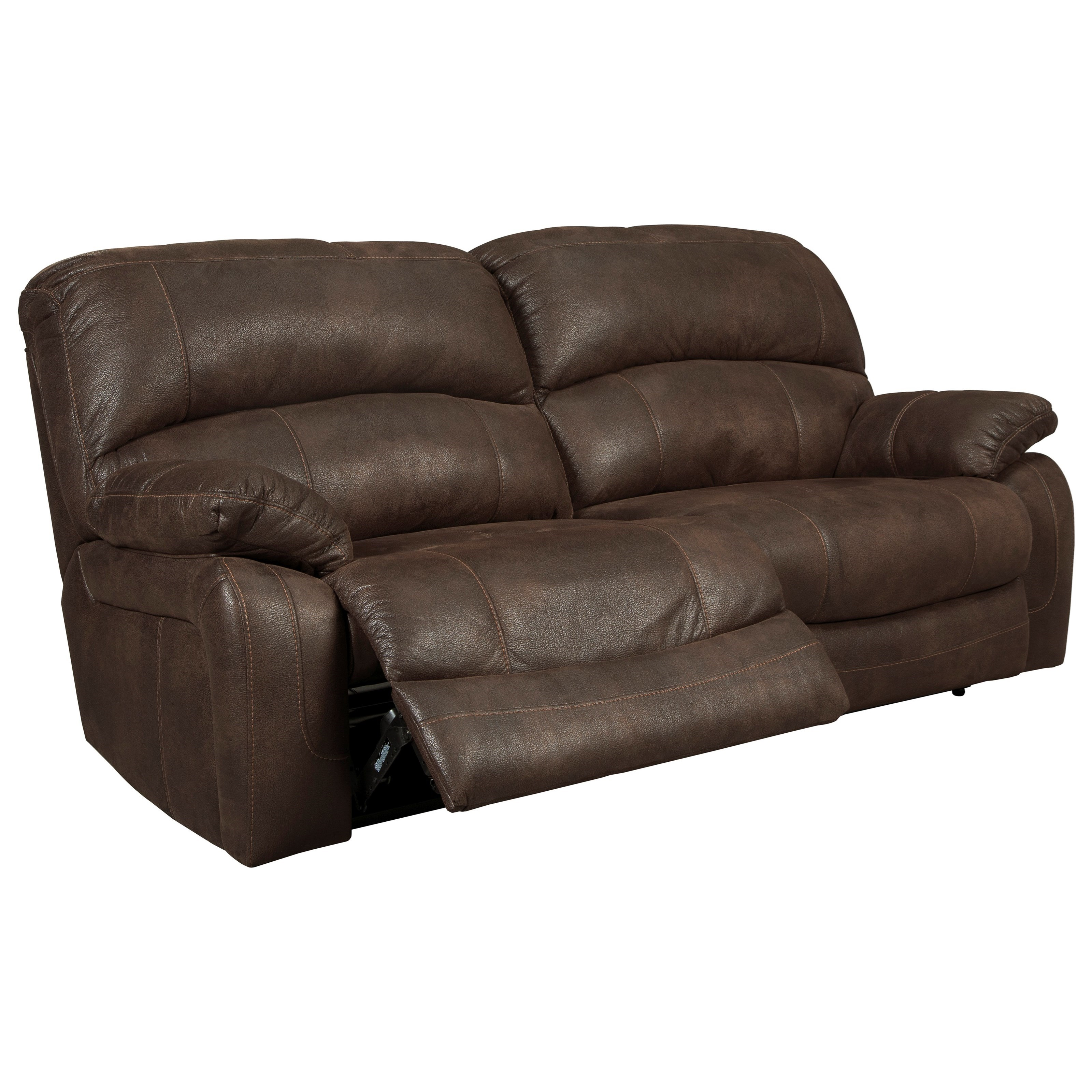 Signature Design By Ashley Zavier 4290147 2 Seat Reclining Power Sofa In Brown Faux Leather