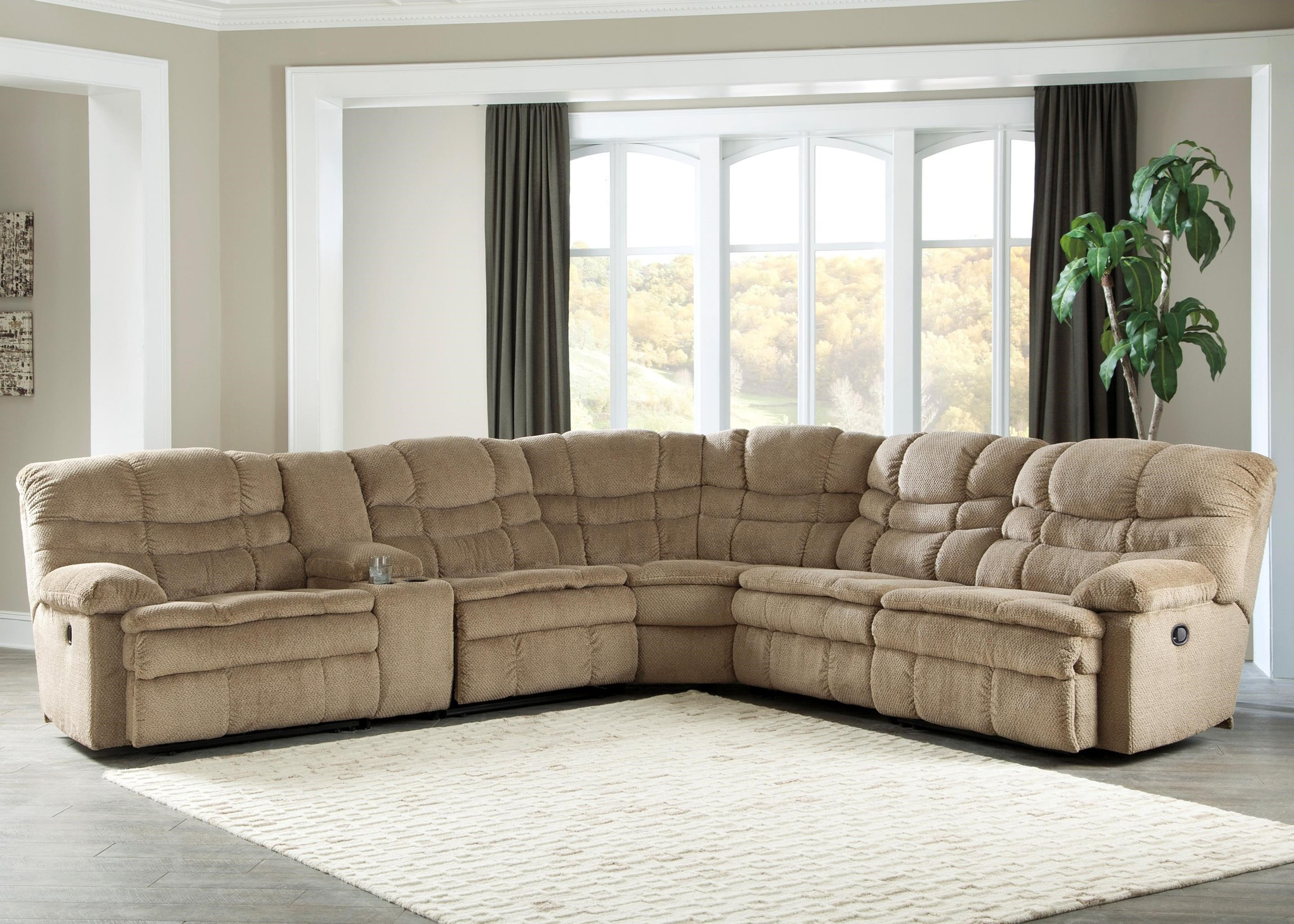 Signature Design by Ashley Zavion 6Pc Recl Sectional w/ Storage Console - Item Number: 6630340+57+19+77+46+41