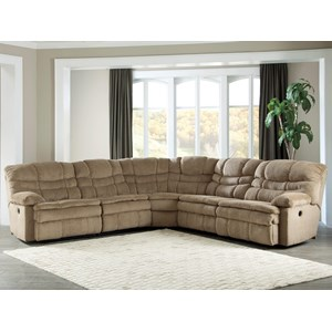 Signature Design by Ashley Zavion 5 Piece Power Reclining Sectional