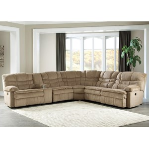 Signature Design by Ashley Carson 6Pc Power Recl Sectional w/ Storage Console