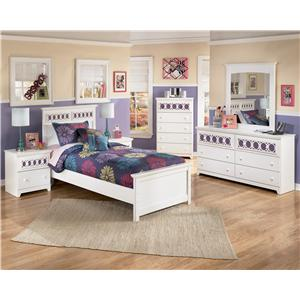 Signature Design by Ashley Zayley 5 Piece Twin Bedroom Group