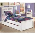 Signature Design by Ashley Zayley Twin Panel Bed with Trundle Storage Box - Item Number: B131-53+52+83+60