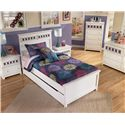 Signature Design by Ashley Zayley Twin Platform Bed with Trundle Storage Box & Customizable Color Panels - Shown with Night Stand, Chest, Dresser, and Mirror