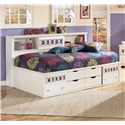 Signature Design by Ashley Zayley Twin Bedside Bookcase Daybed - Item Number: B131-85+51+82