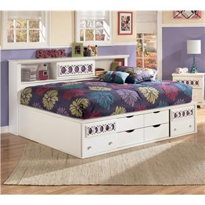 Signature Design by Ashley Zayley Full Bedside Bookcase Daybed