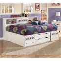 Signature Design by Ashley Zayley Full Bedside Bookcase Daybed - Item Number: B131-85+51+88