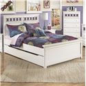 Signature Design by Ashley Zayley Full Platform Bed with Trundle Storage Box - Item Number: B131-87+84+86+60+B100-12