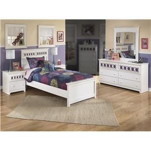 Signature Design by Ashley Zoey 4PC Twin Bedroom Set
