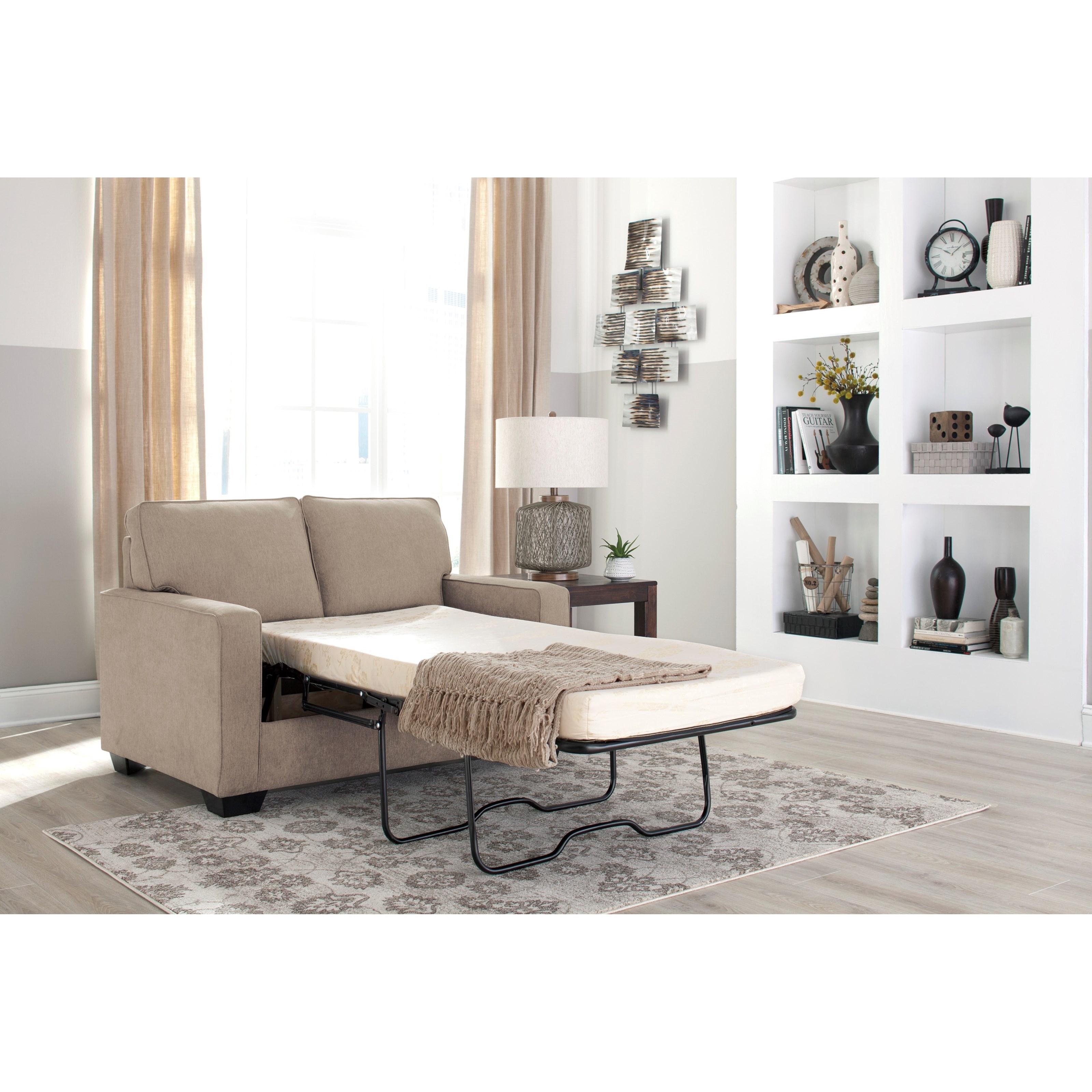 Modern Twin Sleeper Sofa: Signature Design By Ashley Zeb 3590237 Twin Sofa Sleeper