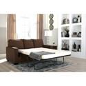Signature Design by Ashley Zeb Full Sofa Sleeper with Memory Foam Mattress
