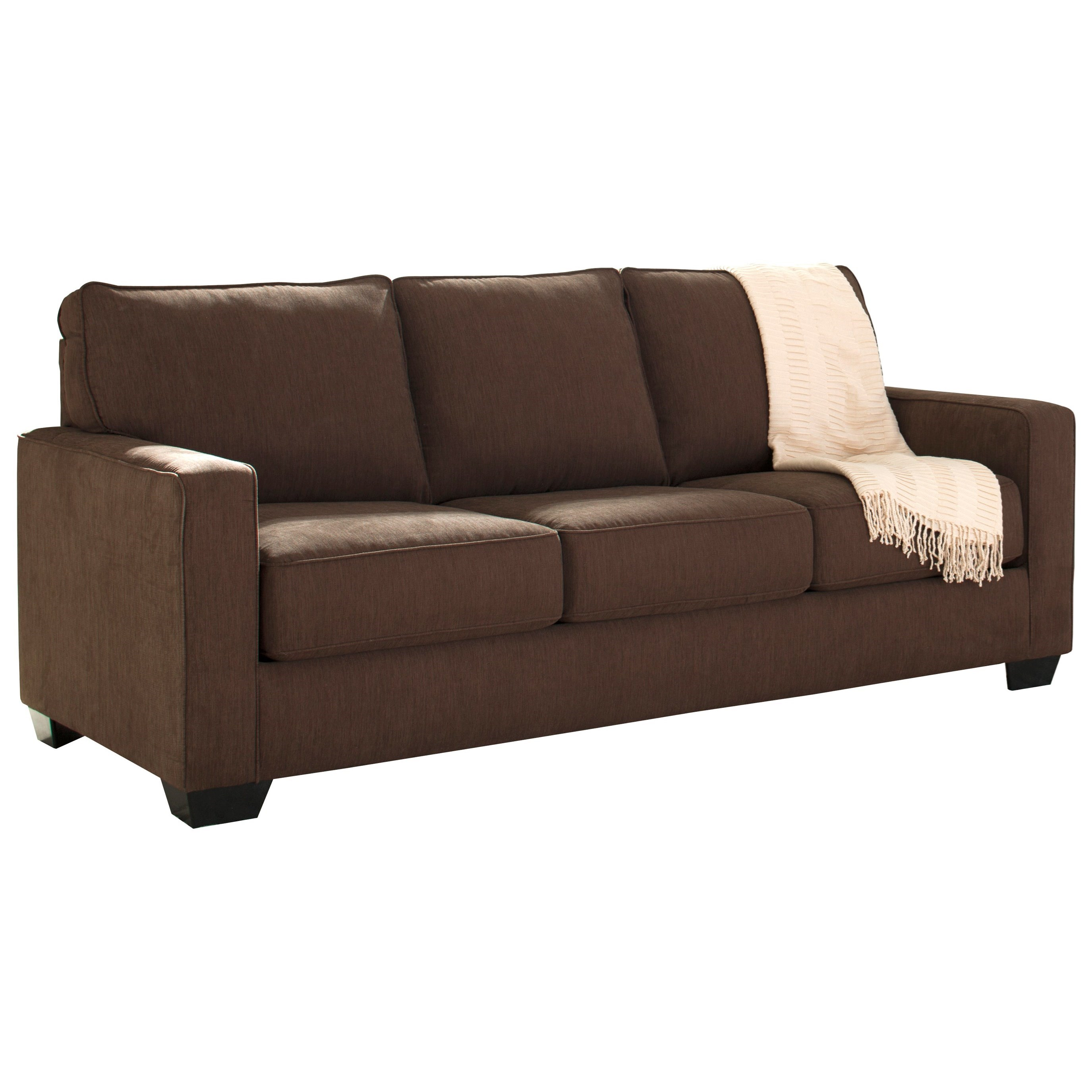 signature design by zeb sofa sleeper with memory foam mattress wayside furniture