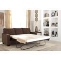 Signature Design by Ashley Zeb Queen Sofa Sleeper with Memory Foam Mattress