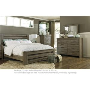 Delicieux Signature Design By Ashley Zelen 3PC King Bedroom